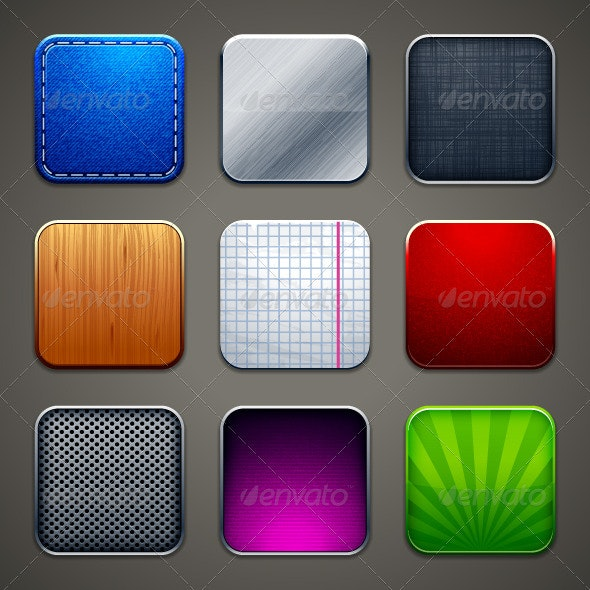 Backgrounds for apps icons - Vectors
