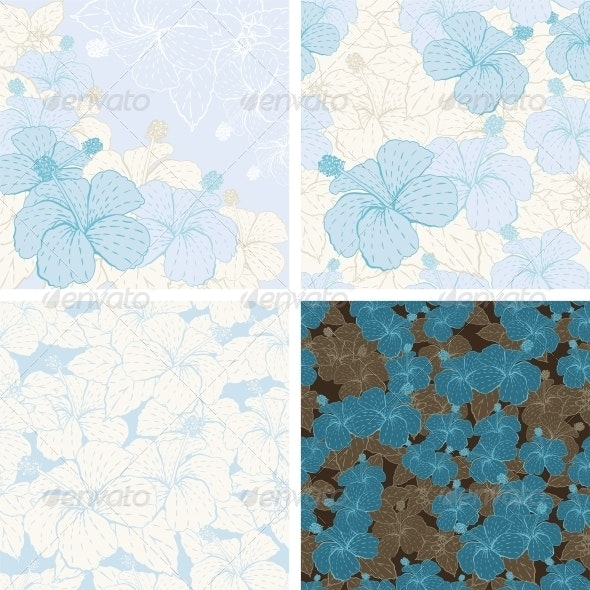 Seamless flower patterns and backgrounds. - Flowers & Plants Nature