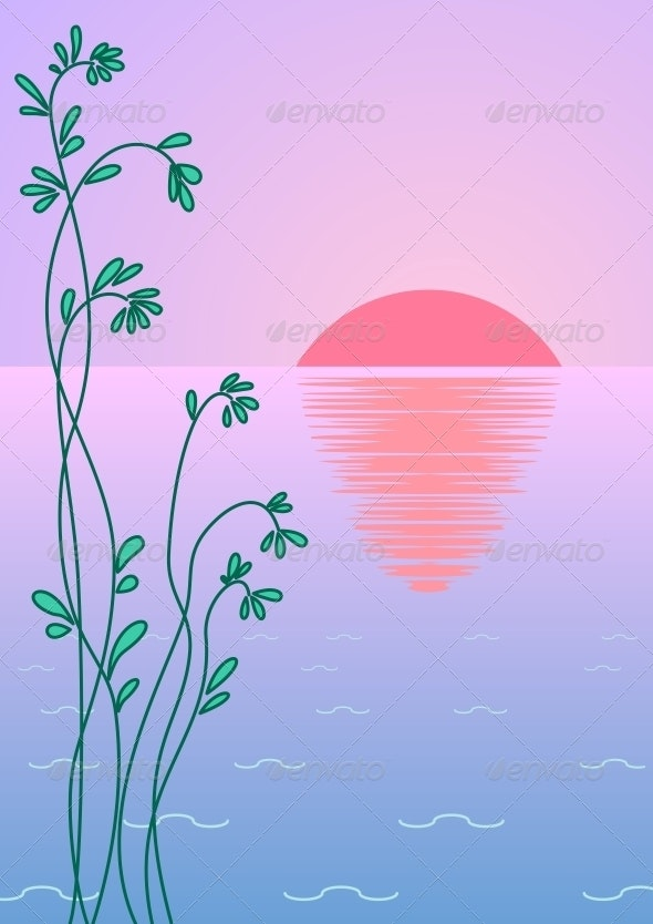 Sun, plant and sea - Landscapes Nature