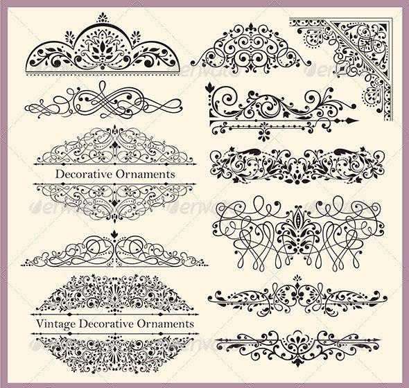 Ornaments and Design Elements - Borders Decorative