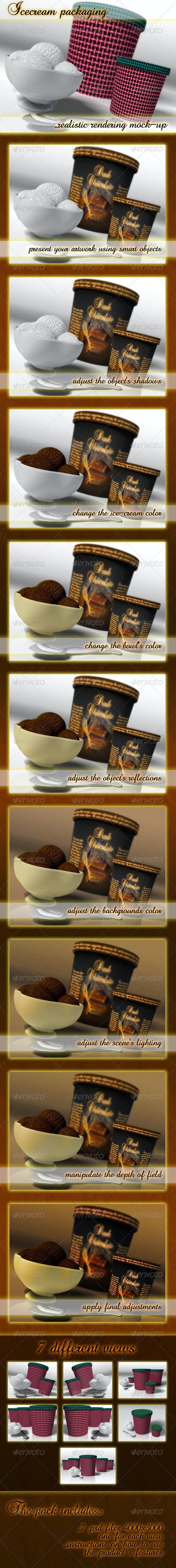 Icecream Packaging Mockup - Food and Drink Packaging