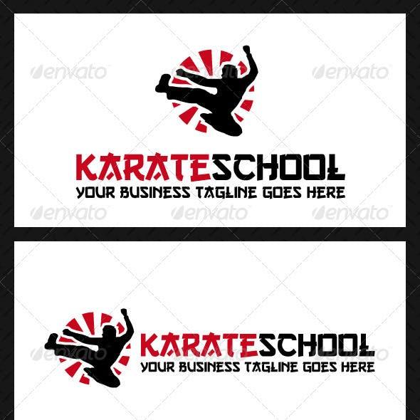 Karate School Logo Template