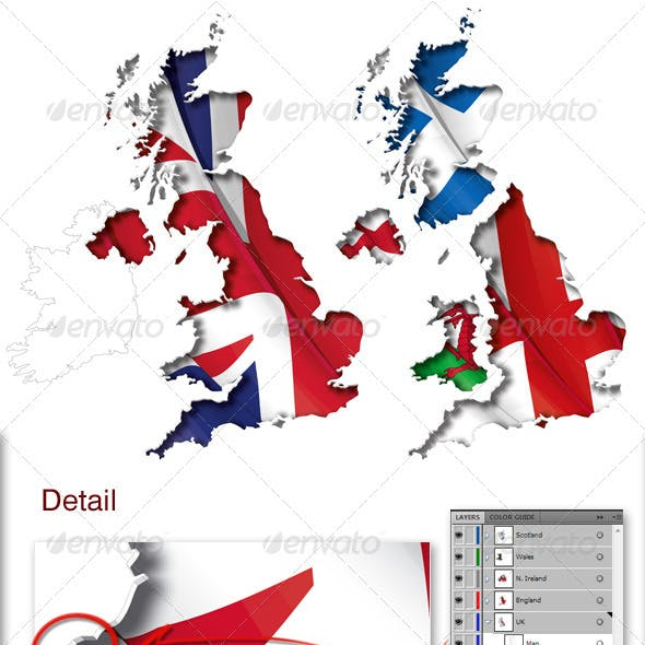UK Flag-Map Inner Shadow