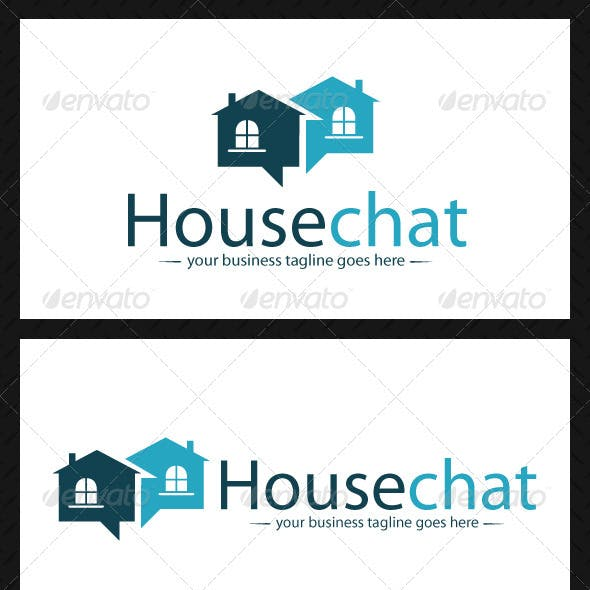 House Chat Logo Template