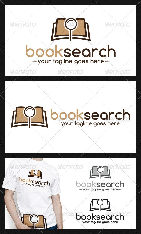 Book Search Logo Template - Objects Logo Templates