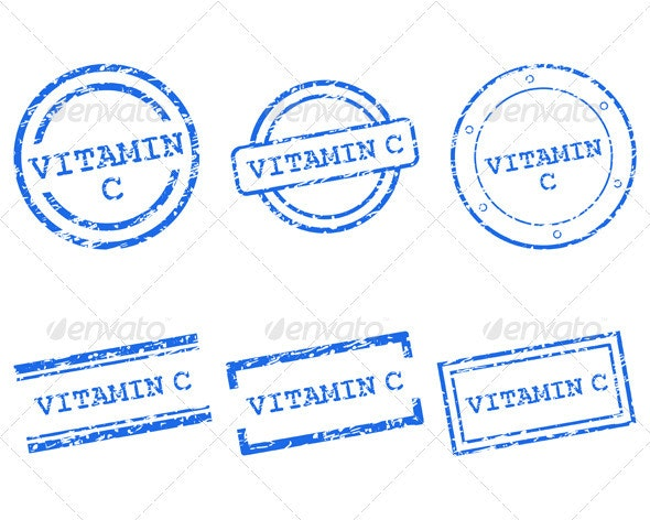 Vitamin C Stamps - Health/Medicine Conceptual