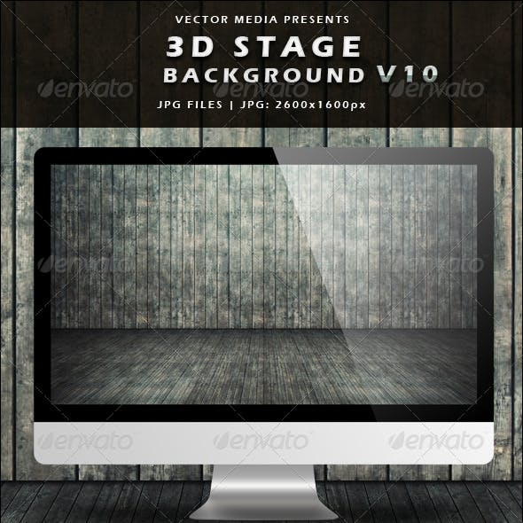 3D Stage Background - Vol.10
