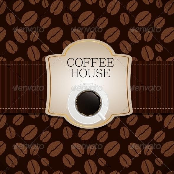 Coffee House Menu Template Vector Illustration - Miscellaneous Conceptual