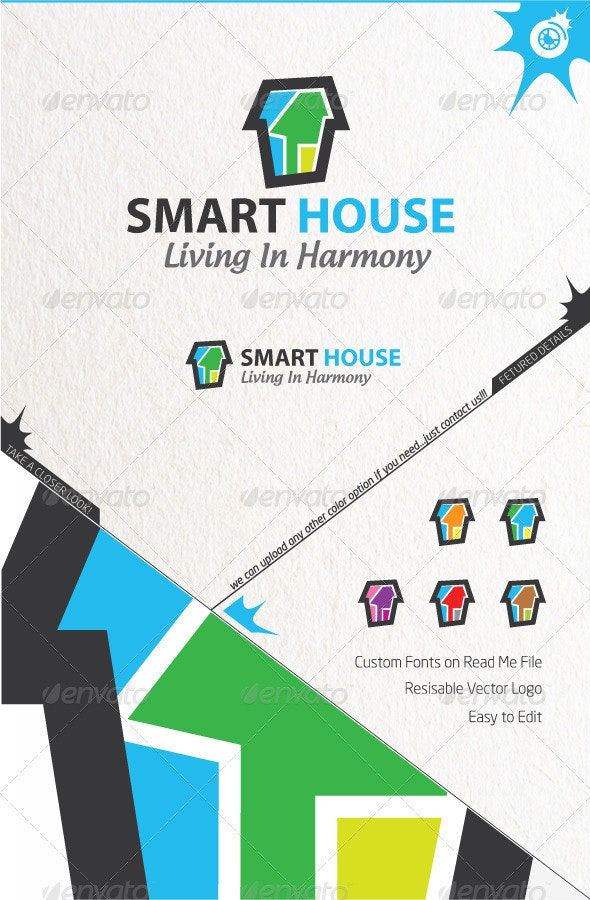 Smart House Logo - Buildings Logo Templates