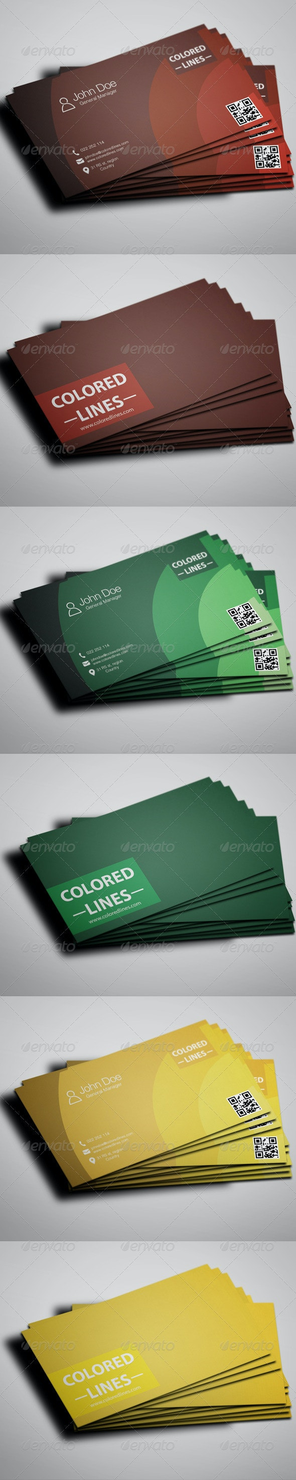 Colored Business Cards Templates - Corporate Business Cards