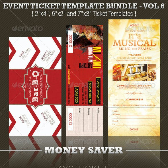 Event Ticket Template Bundle Volume 7