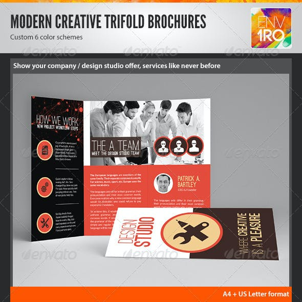 Creative Multipurpose Trifold Brochures Templates