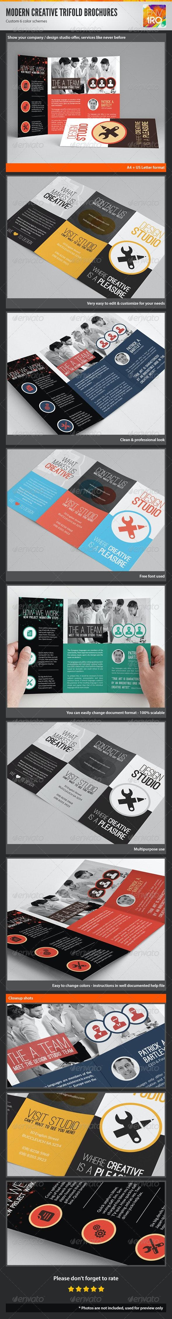 Creative Multipurpose Trifold Brochures Templates - Corporate Brochures