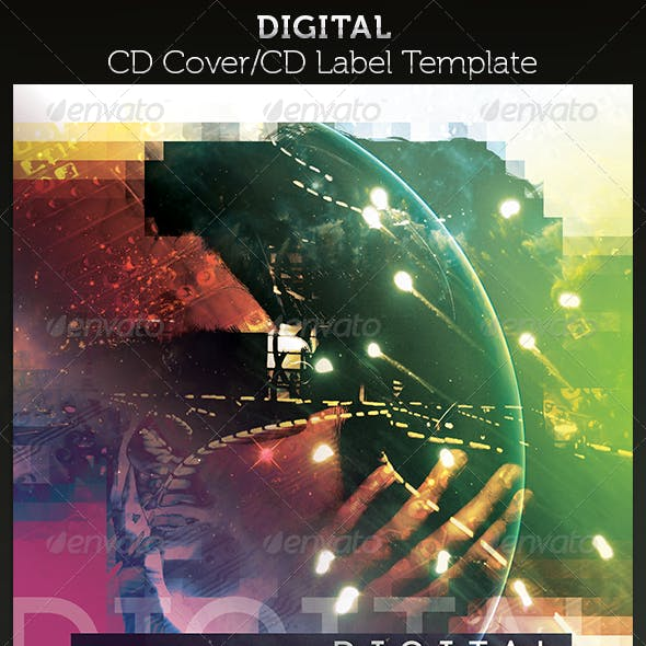Digital CD Cover Artwork Template