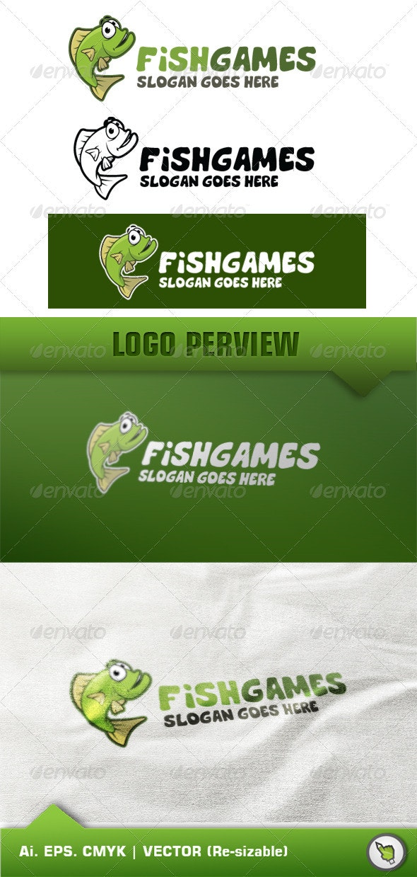 Logo Animals Fish - Animals Logo Templates
