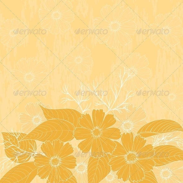 Flowers Cosmos, Background - Patterns Decorative