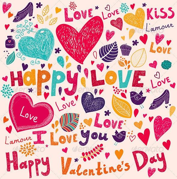 Valentine Greeting Card - Valentines Seasons/Holidays