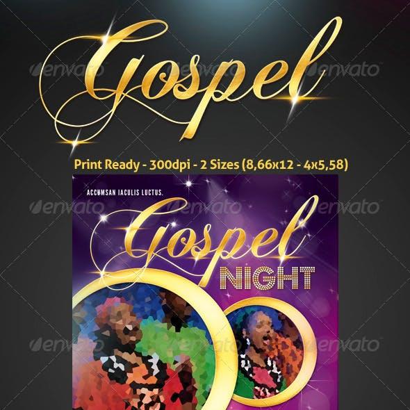 Gospel Concert Flyer Graphics, Designs & Templates