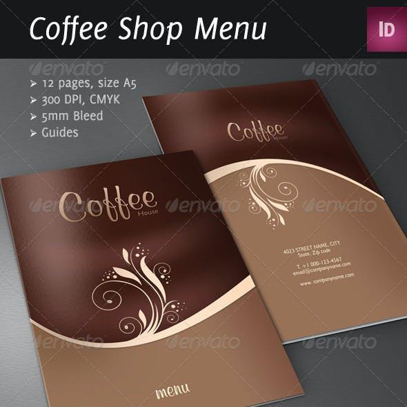 Coffee Shop/Restaurant Menu Brochure