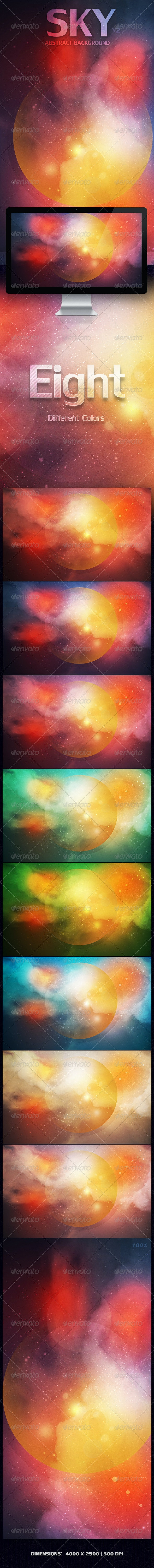 SKY Abstract Background    V2 - Abstract Backgrounds
