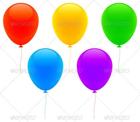 Color Balloons - Seasons/Holidays Conceptual