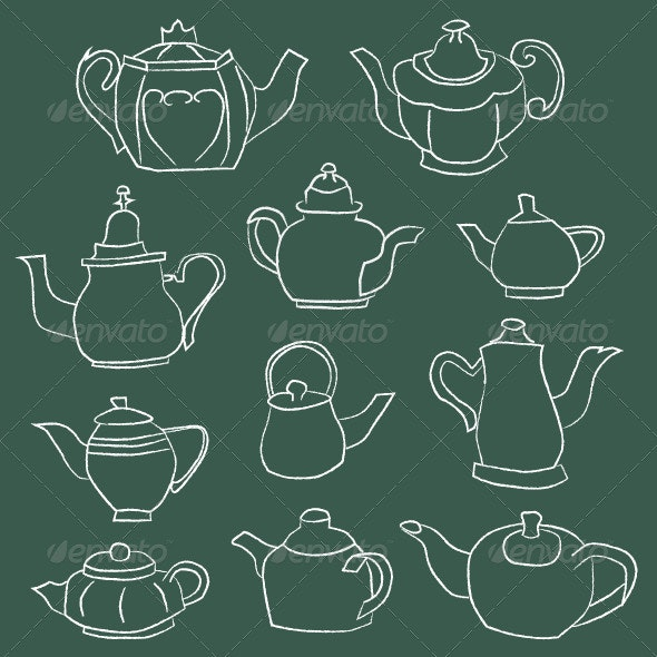 Teapot Elements - Food Objects