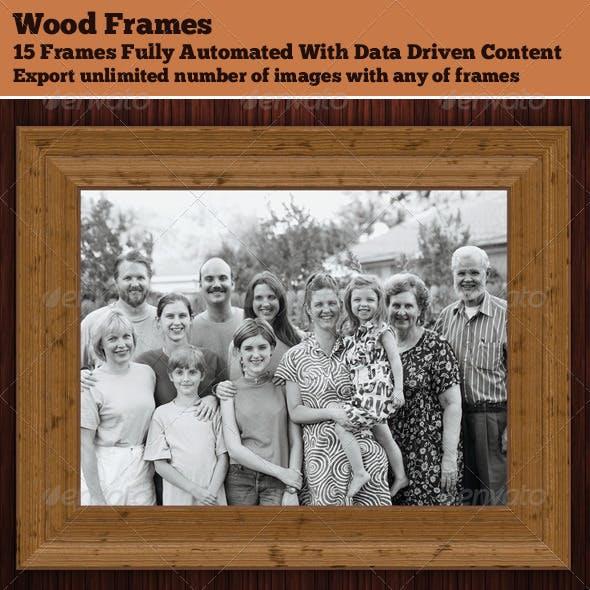 Realistic 3D Wood Frames