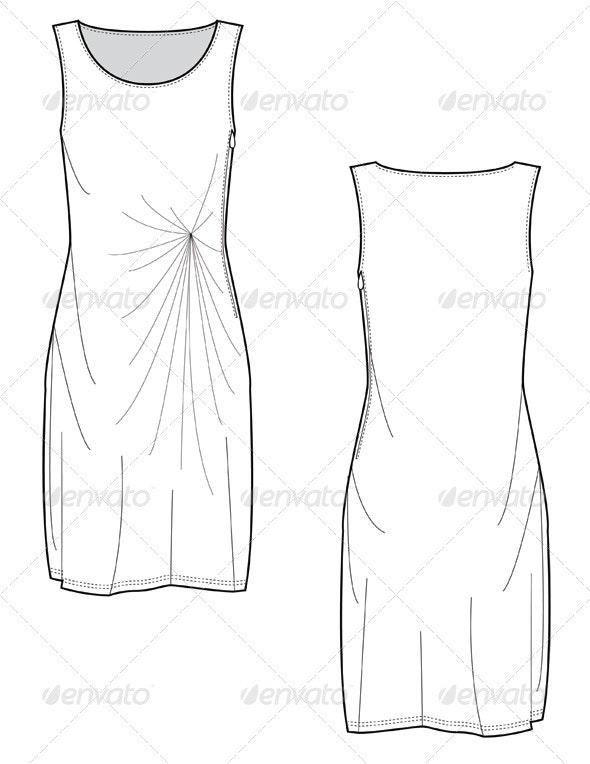 Fashion Flats for Knee Length Sheath Dress - Man-made Objects Objects