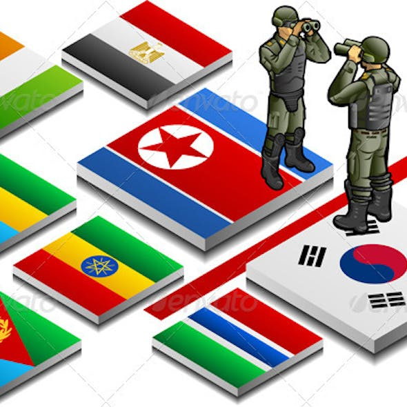 Isometric Border with Military Observer