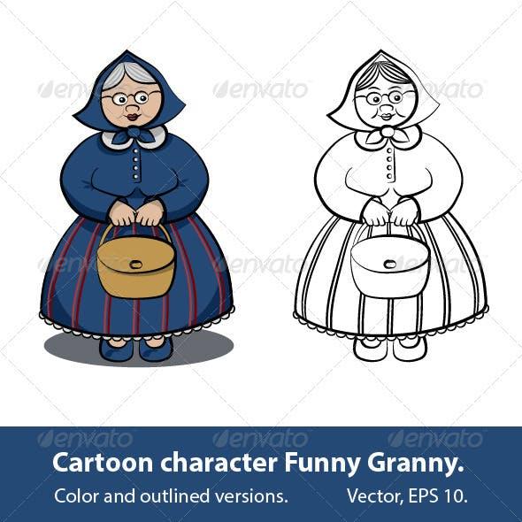Cartoon Character - Funny Granny
