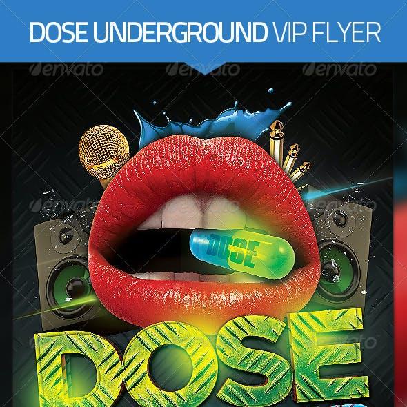 Dose Underground Hip Hop Flyer