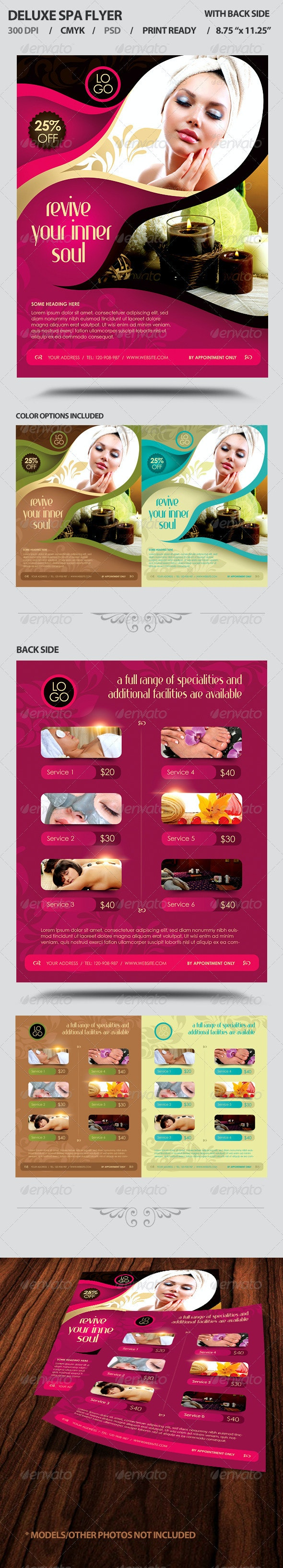 Deluxe Spa Business Promotion Flyer - Commerce Flyers