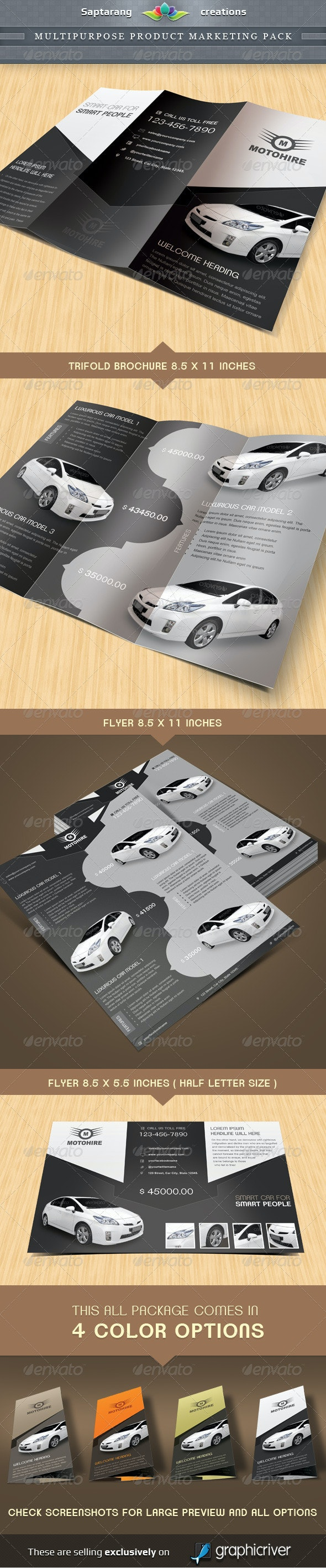 Multipurpose Product Marketing Package  - Corporate Brochures