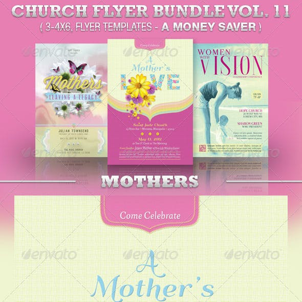 Mothers Church Flyer Template Bundle Vol 11