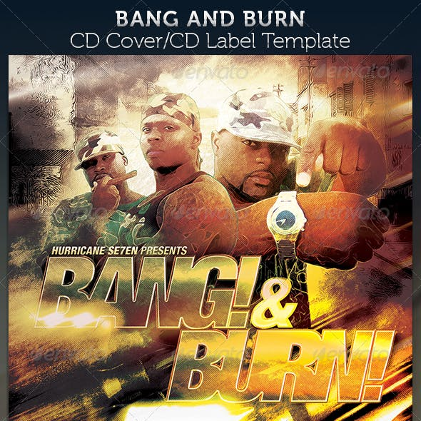 Bang & Burn CD Cover Artwork Template