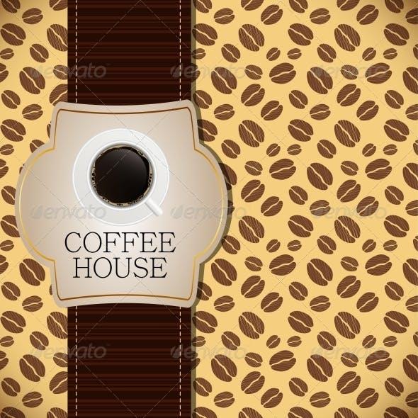 Coffee house menu template vector illustration