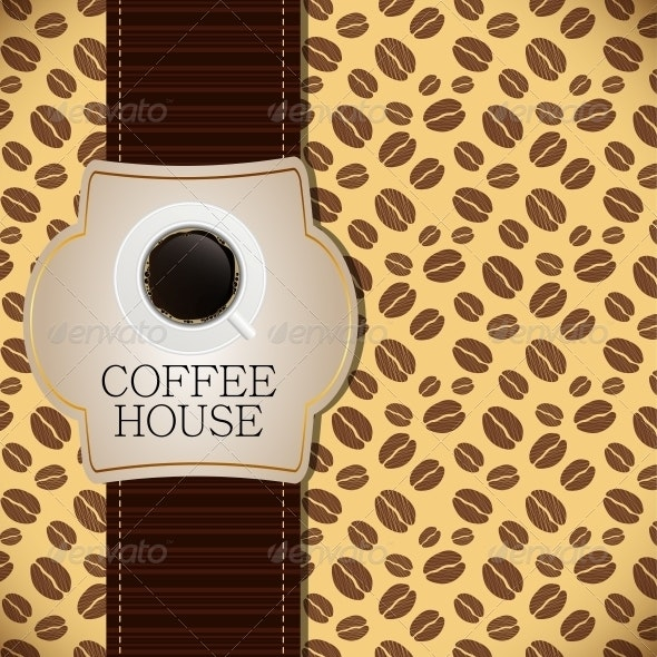 Coffee house menu template vector illustration - Food Objects