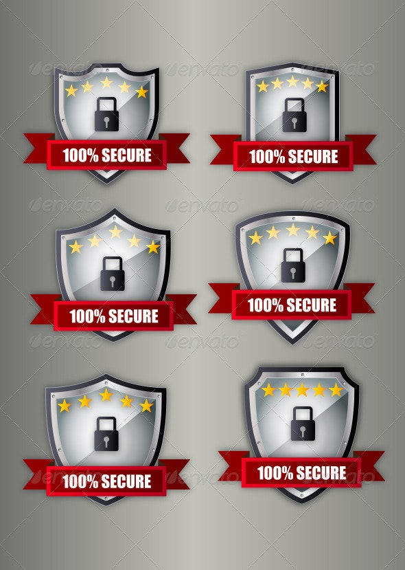 Secure Shield - Objects Vectors
