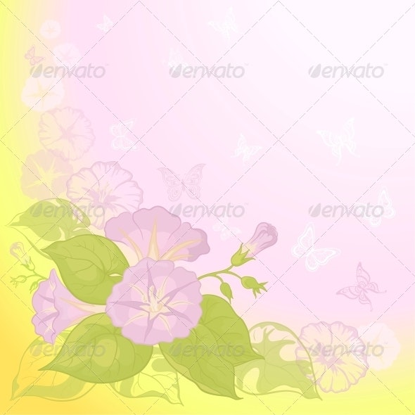 Background with flowers Ipomoea - Miscellaneous Seasons/Holidays