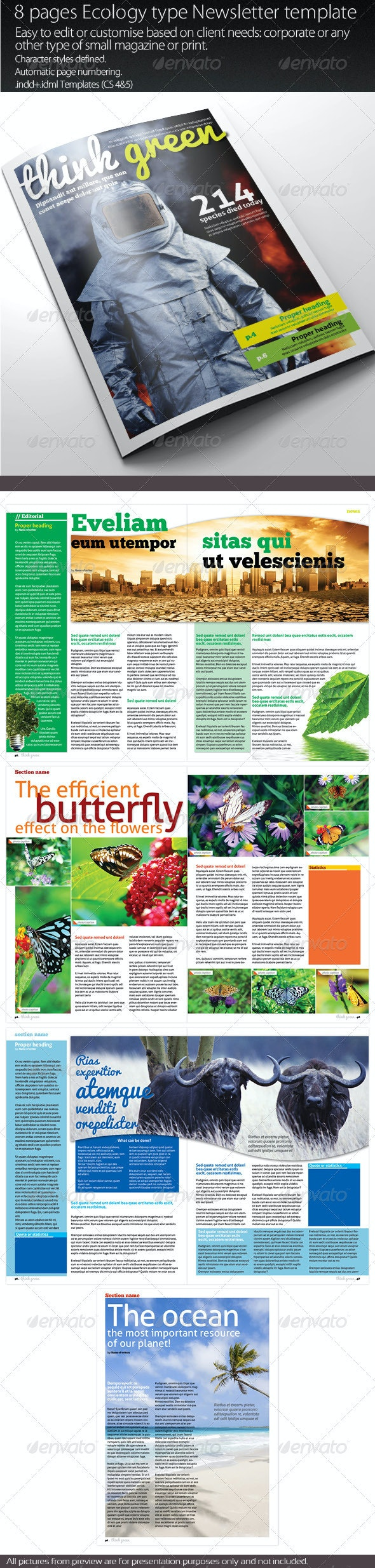Ecology Newsletter - Newsletters Print Templates
