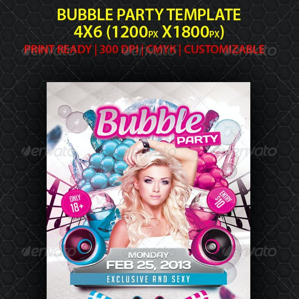 Bubble Party Flyer Template