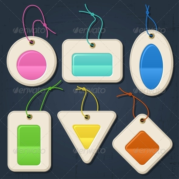 Set of colorful bubbles, stickers, labels, tags. - Retail Commercial / Shopping