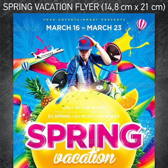 Spring Vacation Party Flyer
