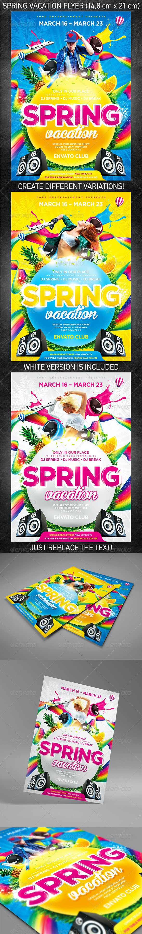 Spring Vacation Party Flyer - Events Flyers