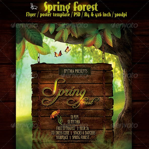 Spring Forest - Flyer/Poster Template