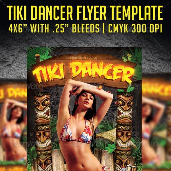 Tiki Dancer Flyer Template