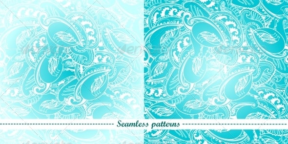 Set of 2 Abstract Seamless Patterns - Backgrounds Decorative