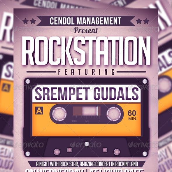Rock Station Music Flyer Template