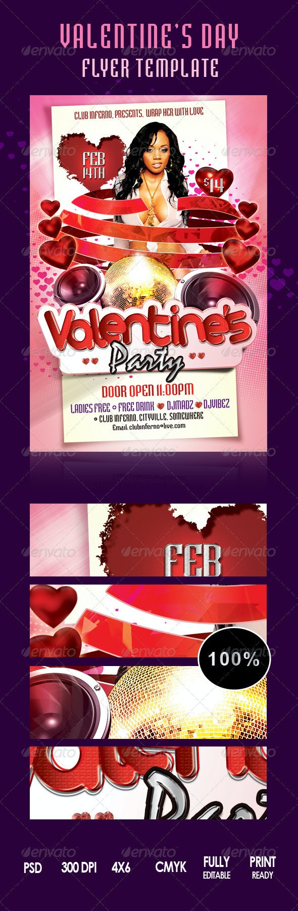 Wrap Her With Love Valentines Party flyer - Clubs & Parties Events