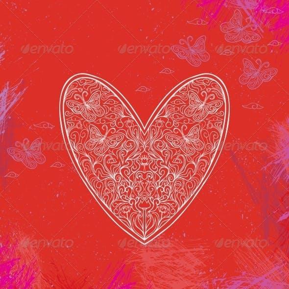 Illustration of Ornamental Heart Shape